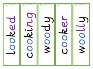 oo (short) root word cards