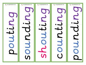 ou root word cards (ing)