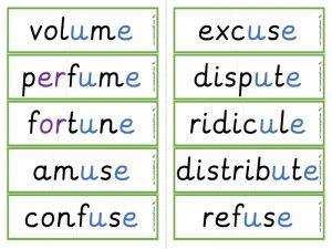multisyllabic u-e word cards