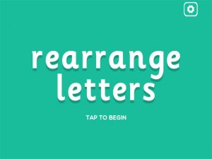 al interactive anagrams game