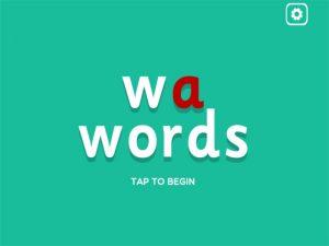wa- interactive anagrams game