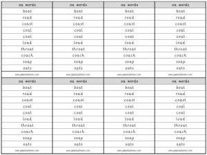 oa spelling lists