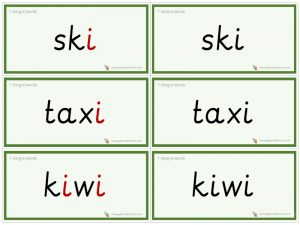 i (long e) word cards