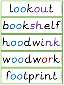 multisyllabic 'oo' (short) word flashcards
