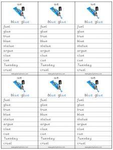 ue spelling lists