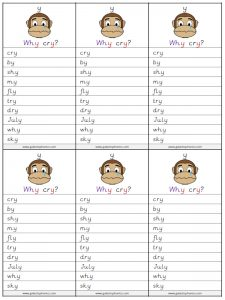 y (long i) spelling lists