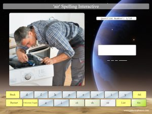 interactive air phonics spelling game