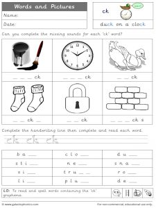 ck word and pictures worksheet