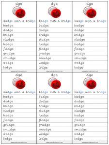 dge spelling lists