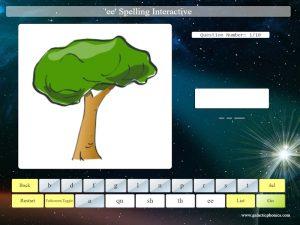 interactive ee phonics spelling game