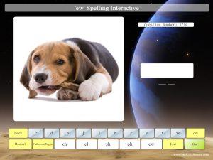 interactive ew phonics spelling game