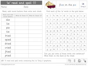ie (long i) read and spell worksheet (1)