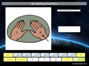 interactive igh phonics spelling game