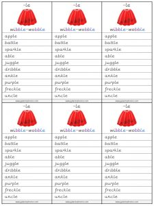 le spelling lists