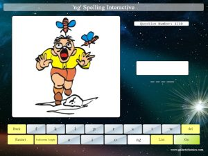 interactive ng spelling game