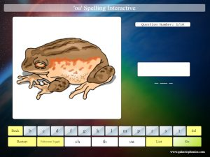interactive oa phonics spelling game