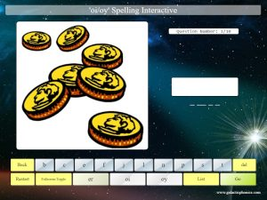 interactive oi/oy phonics spelling game