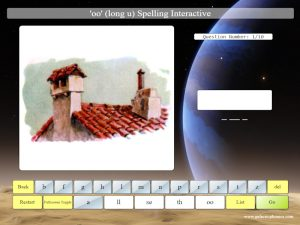 interactive oo phonics spelling game