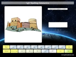 interactive or phonics spelling game