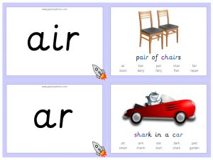 Other Vowel Phoneme Sound Cards
