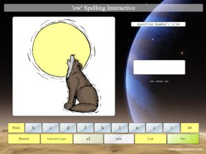 interactive ow phonics spelling game