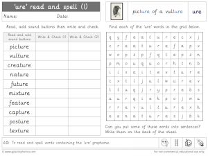ure read and spell worksheet (1)