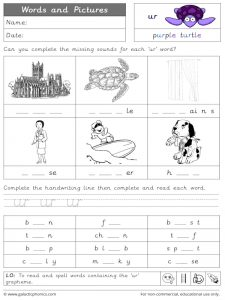 ur words and pictures worksheet