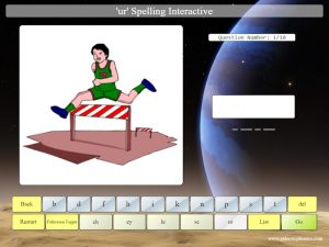 interactive ur phonics spelling game