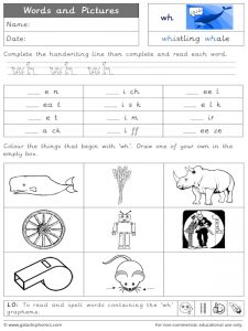 wh words and pictures worksheet