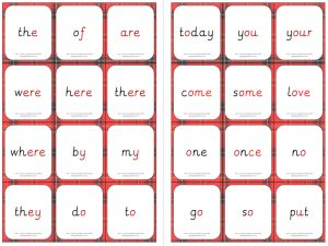 Year 1 Common Exception Word Flashcards (smaller)