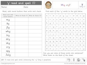 -y (long i) read and spell worksheet (1)